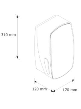 BMS401 Держатель туалетной бумаги в листках MERCURY металл/пластик серый