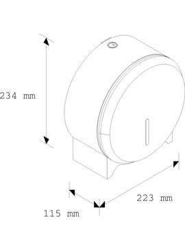 BSM201 Держатель туалетной бумаги STELLA MINI нержавеющая сталь матовый