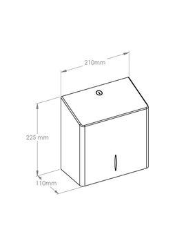 BSM203 Держатель туалетной бумаги STELLA R10 ADVANCED MAXI нержавеющая сталь матовый